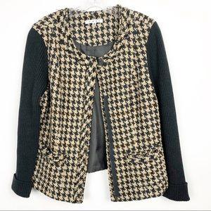 CAbi Houndstooth mixer cardigan sweater jacket